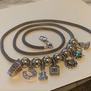 "Brighton 8 Charm Necklace 34"" Bundle Beads"